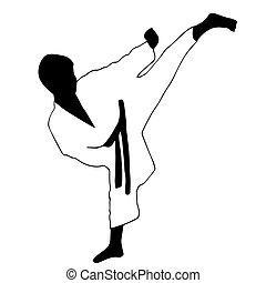 karate, sport, boy.