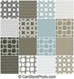 karikák, ékezetez, seamless, lenget, patterns:, geometriai