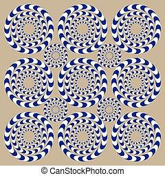 karikák, dugóhúzó, (illusion)