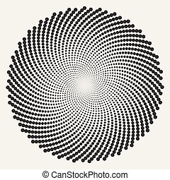 karikák, elvont, spirál, kerek, vektor, fekete, örvény, fehér, illúzió, látási
