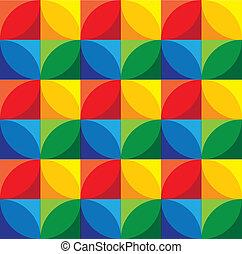 karikák, &, grap, -, seamless, vektor, háttér, geometriai, blokkok