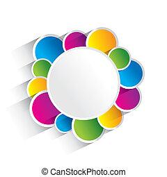 karikák, színes, kreatív