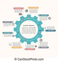 karika, bekapcsol, infographics
