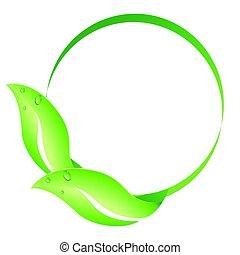 karika, levél növényen