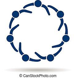 karika, logo., közösség, emberek