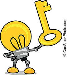 karikatúra, ábra, lámpa