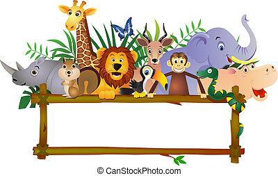 karikatúra, állat