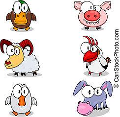 karikatúra, állatok