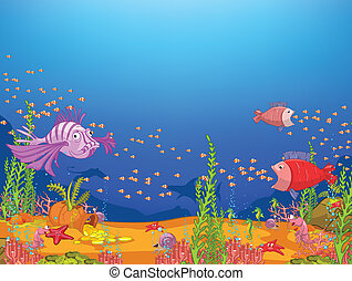 karikatúra, óceán