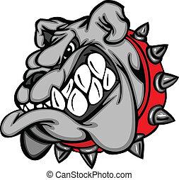 karikatúra, arc, kabala, bulldog
