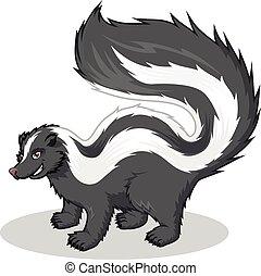 karikatúra, csíkos skunk