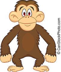 karikatúra, csimpánz