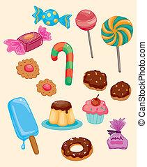 karikatúra, cukorka, ikon