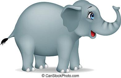 karikatúra, elefánt