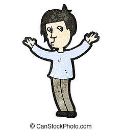 karikatúra, ember