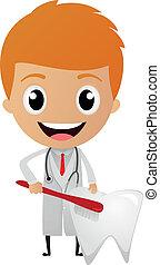 karikatúra, fogász