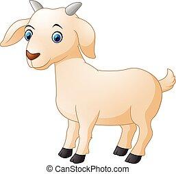 karikatúra, goat, csinos