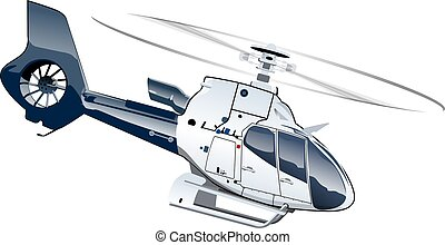 karikatúra, helikopter