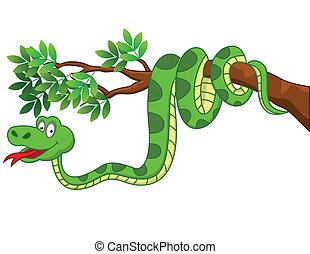 karikatúra, kígyó