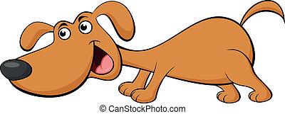 karikatúra, kutya, furcsa
