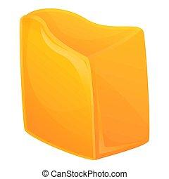 karikatúra, mód, ikon, cheddar sajt