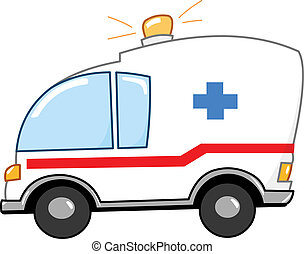 karikatúra, mentőautó