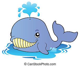 karikatúra, nagy, bálna