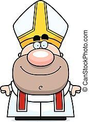 karikatúra, pápa, boldog