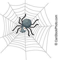karikatúra, pók