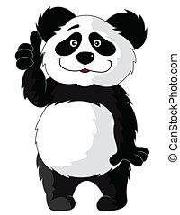 karikatúra, panda