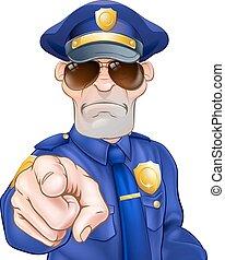 karikatúra, rendőr