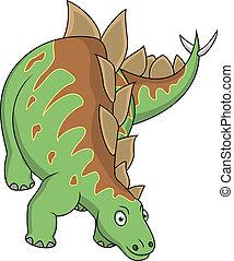 karikatúra, stegosaurus