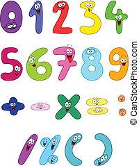 karikatúra, számok