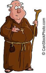 karikatúra, szerzetes