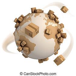 kartonpapír ökölvívás, világ, mindenfelé
