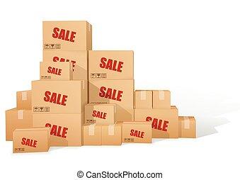 kartonpapír, boxes., kiárusítás