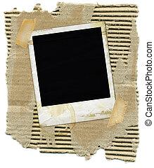 kartonpapír, polaroid
