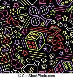 kaszinó, neon, háttér