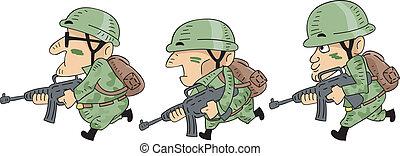 katona, futás