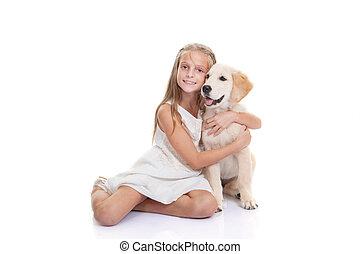 kedvenc, kutyus, kutya, gyermek