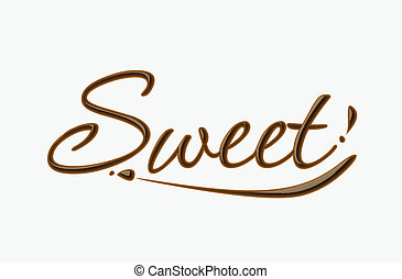 kellemes, csokoládé, szöveg