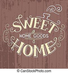 kellemes, hand-lettering, otthon
