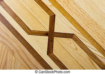 keményfa, motívum, parketta padló