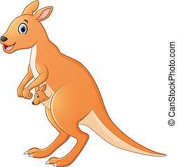 kenguru, karikatúra