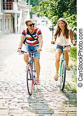 kerékpározás, liget