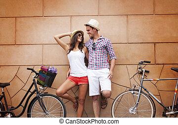 kerékpározás, város megszakadás, után