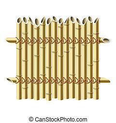 kerítés, bambusz