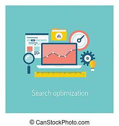 keres, fogalom, optimization, ábra