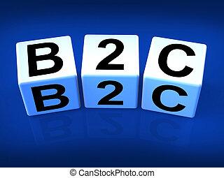 kereskedelem, eltöm, ügy, ábrázol, fogyasztó, b2c, vagy