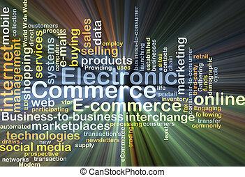 kereskedelem, izzó, fogalom, elektronikus, háttér